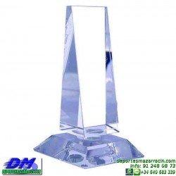 Trofeo Cristal Especial Grabación 5138 laser texto logotipo escudo diferentes alturas premio deporte pallart metacrilato