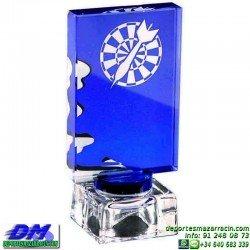 Trofeo Cristal 5177 laser texto logotipo escudo logotipo escudo diferentes alturas premio deporte pallart metacrilato