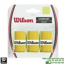 WILSON PRO OVERGRIP AMARILLO grip recambio tenis padel WRZ4014YE