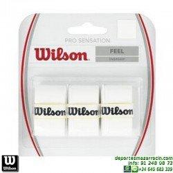 WILSON PRO OVERGRIP SENSATION BLANCOgrip recambio tenis padel WRZ4010WH