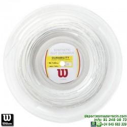 WILSON SYNTHETIC GUT DURAMAX 16 WH 200M REEL Rollo Cordaje raqueta tenis WRZ905900 encordado cuerda