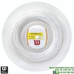 WILSON SYNTHETIC GUT DURAMAX 17 WH 200M REEL Rollo Cordaje raqueta tenis WRZ906000 encordado cuerda