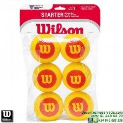 WILSON STARTER FOAM BALL 6 PACK Pelota Tenis Espuma WRZ259300