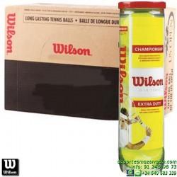 CAJON WILSON CHAMPIONSHIP TENNIS BALL 18 Botes pelotas tenis x4 bolas WRT110000