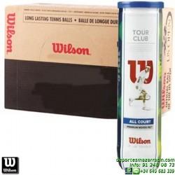 CAJON WILSON TOUR CLUB TENNIS BALL 18 Botes de pelotas tenis x4 bolas WRT114600