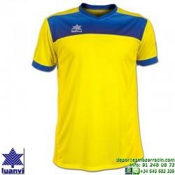 LUANVI CAMISETA BOLTON Futbol color AMARILLO Manga Corta talla equipacion hombre niño 07812-0031