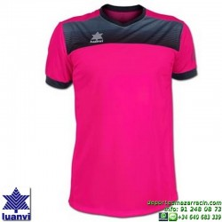 LUANVI CAMISETA BOLTON Futbol color ROSA FLUOR Manga Corta talla equipacion hombre niño 07812-1601
