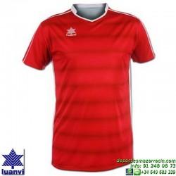 LUANVI CAMISETA OLIMPIA Futbol color ROJO Manga Corta talla equipacion hombre niño 07814-0022