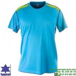 LUANVI CAMISETA META Futbol color AZUL Manga Corta talla equipacion hombre niño 07860-0166