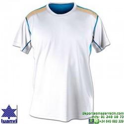 LUANVI CAMISETA META Futbol color BLANCO  Manga Corta talla equipacion hombre niño 07860-0246
