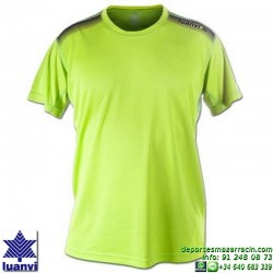 LUANVI CAMISETA META Futbol color VERDE PISTACHO Manga Corta talla equipacion hombre niño 07860-0335