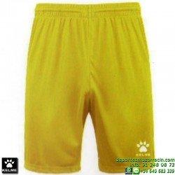 KELME PANTALON CORTO GLOBAL Futbol color AMARILLO short equipacion SPORT talla hombre niño 75053-141