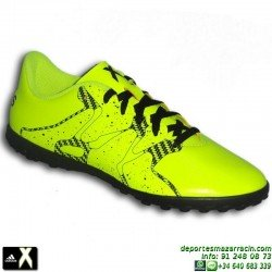 Adidas X 15.4 TF J 2015 AMARILLO-NEGRO B32950 zapatilla futbol TURF bota CHAOS SOCCER personalizar poner nombre bandera