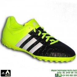 Adidas ACE 15.4 TURF NIÑOS 2015 AMARILLO-NEGRO B27022 zapatilla futbol JUNIOR bota CONTROL SOCCER personalizar poner nombre