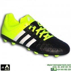 Adidas ACE 15.4 NIÑOS taco FxG 2015 AMARILLO-NEGRO B32864 bota futbol JUNIOR CONTROL SOCCER personalizar poner nombre