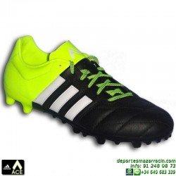 Adidas ACE 15.3 FG/AG 2015 AMARILLO-NEGRO B32810 bota futbol artificial adulto CONTROL SOCCER personalizar poner nombre