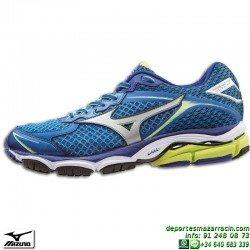 Mizuno WAVE ULTIMA 7 AZUL 2014 zapatilla Running J1GC150904 Correr atletismo control pisada neutra deporte PERSONALIZAR