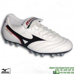 Mizuno MRL CLUB 24 BLANCO bota futbol clasica piel tacos P1GA150709 hierba artificial AG personalizar nombre numero bandera