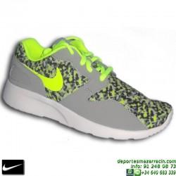 Nike KAISHI PRINT GRIS Zapatilla ROSHE RUN mujer 749531-001 SNIKER chica personalizar deporte sportwear footwear
