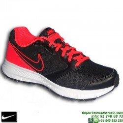 Nike DOWNSHIFTER 6 NEGRO-ROJO Zapatilla Deporte 684652-017 HOMBRE running training correr gimnasio SPORT personalizar