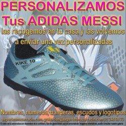 PERSONALIZAR ADIDAS MESSI botas futbol grabar estampar nombre numero bandera escudo