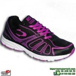 Zapatilla Deporte Mujer John Smith RABEL Negro-Violeta gimnasio chica NYLON footwear personalizable