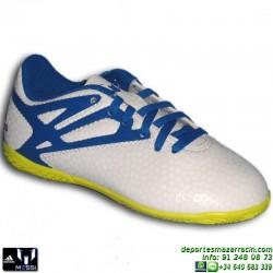Adidas MESSI 15.4 NIÑOS BLANCA 2015 Zapatilla Futbol Sala B25462 JUNIOR SOCCER personalizar
