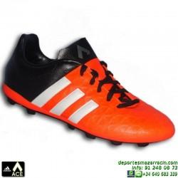 Adidas ACE para niños 15.4 bota futbol taco FxG NARANJA S83187 JUNIOR James Kroos Koke Rakitic SOCCER personalizar