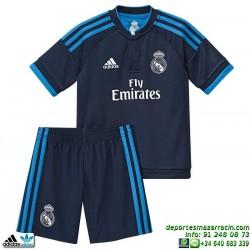 Conjunto REAL MADRID 2015-2016 Niños AZUL Adidas Oficial
