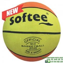 Balon Baloncesto NYLON 6 softee basket colegio entrenamiento escolar 0001312 AMARILLO
