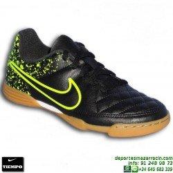 Nike TIEMPO RIO 2 Futbol Sala NIÑO NEGRO-VERDE junior 631526-007 Sergio Ramos Pique Varane Carvajal personalizar
