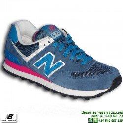 NEW BALANCE 574 MUJER AZUL zapatilla Footwear MODA WL574MOY chica clasica personalizable