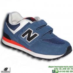 NEW BALANCE 574 NIÑOS VELCRO AZUL zapatilla Footwear MODA KV574MTY junior niña clasica personalizable