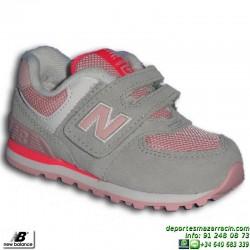 NEW BALANCE 574 INFANTIL VELCRO ROSA zapatilla Footwear MODA KG574SCI junior NIÑA clasica personalizable