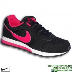 Nike MD RUNNER Zapatilla CHICA NEGRO-ROSA Footwear Moda 807319-006 calle mujer clasica personalizar sneakers