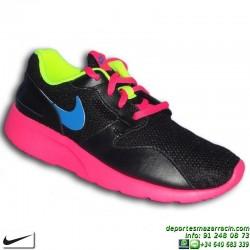 Nike KAISHI NEGRO-ROSA Zapatilla ROSHE RUN 705492-004 calzado mujer chica shoes footwear moda calle personalizar
