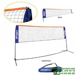 SET MINITENIS-BADMINTON METALICO softee