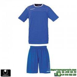UHLSPORT Conjunto MATCH TEAM KIT Futbol color AZUL ROYAL 1003161.06 equipacion camiseta pantalon talla deporte manga corta