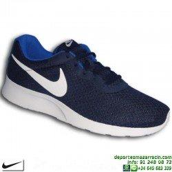 Nike TANJUN AZUL MARINO Zapatilla ROSHE RUN 812654-414 SNEAKERS personalizar footwear deporte moda calle