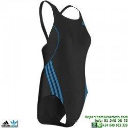 Adidas Bañador Natacion Mujer I S 1PC Negro-Azul AB7032 lycra infinitex