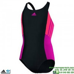 Adidas Bañador Natacion Chica I INS 1PC G Negro-Rosa