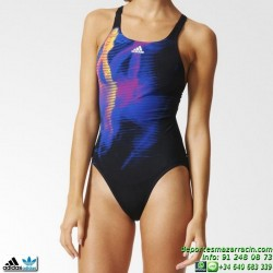 Adidas Bañador Natacion Mujer XTR 1PC Negro-Azul