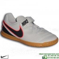 Nike TIEMPO RIO 3 Futbol Sala VELCRO NIÑO BLANCA 819193-001 junior Sergio Ramos Pique Varane Carvajal personalizar soccer