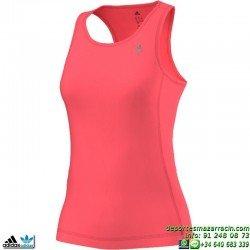 Camiseta Mujer Tirantes Adidas CLIMA ESS TANK ROJO AB4987 ClimaLite TRANSPIRABLE