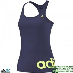 Camiseta Tirantes ADIDAS ESS LINEARTANK Azul Marino Mujer