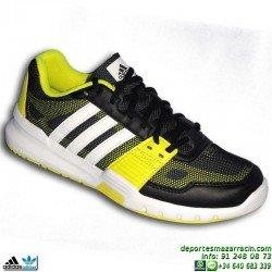 Adidas Zapatilla Deportiva ESSENTIAL STAR 2 Negra-Amarilla B33189 Hombre nylon