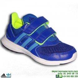 ADIDAS hyperfast 2.0 cf k Zapatilla Deporte Niño Velcro AZUL B23841 junior infantil sport correr gimnasia educacion fisica
