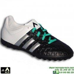Adidas ACE para niños NEGRO-BLANCO 15.4 TURF AF5254 zapatilla futbol JUNIOR bota James Kroos Koke Rakitic SOCCER