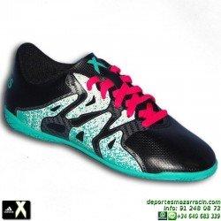Adidas X para niños negra 15.4 zapatilla futbol SALA AQ5799 bota Gareth Bale Luis Suarez Marcelo JUNIOR personalizar