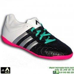 Adidas ACE para niños BLANCO-NEGRO bota futbol sala 15.4 AF5043 zapatilla James Kroos Koke Rakitic JUNIOR indoor